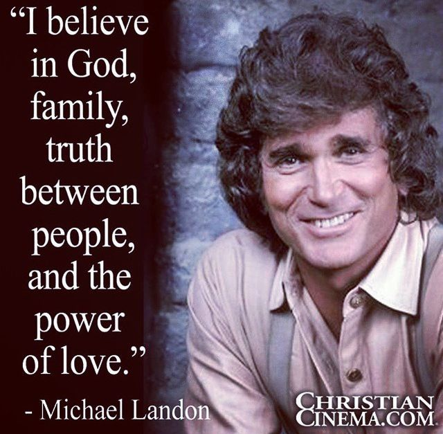 Michael Landon from Little House on the Prairie