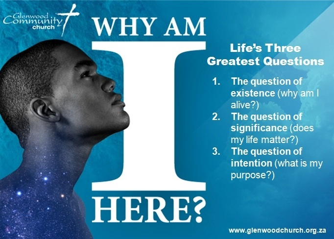 Life's Three Greatest Questions  #purpose #Jesus #God #whyamihere #PDL #Church