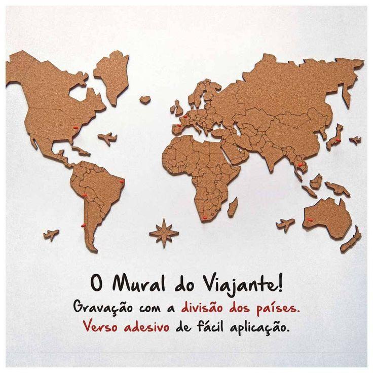 Las 25 mejores ideas sobre adesivo mapa mundi en - Mapa mundi mural ...