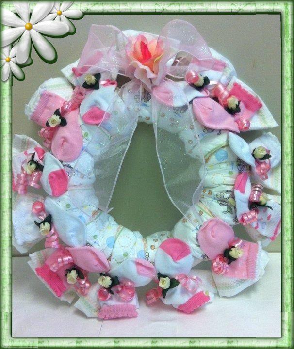 diaper wreath diy baby shower ideas pinterest