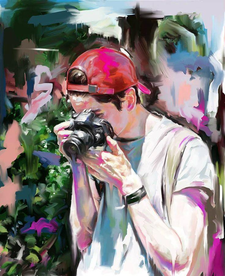 digital painting art work by @2l.cat instagram -2l.cat #portrait