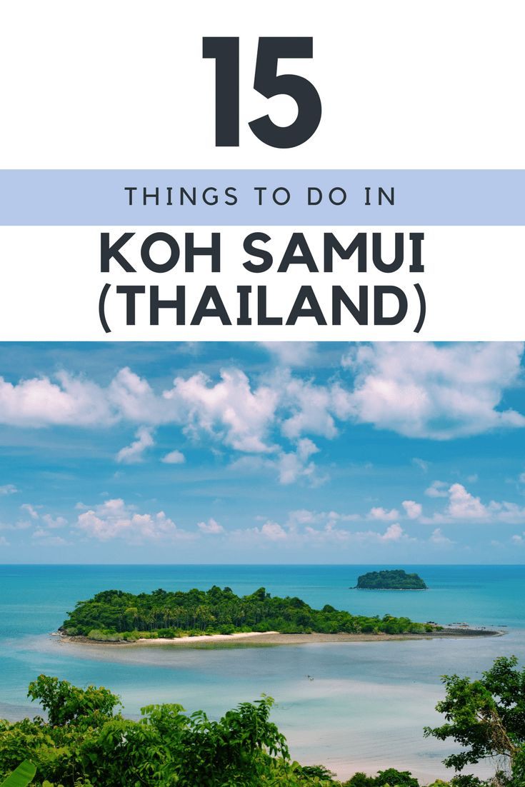 15 Things to do in Koh Samui #Thailand