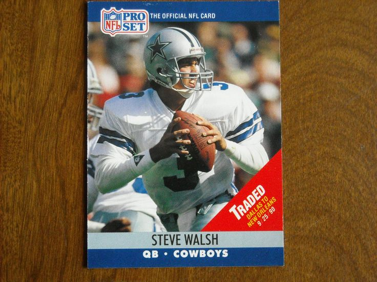 Steve Walsh Dallas Cowboys QB Card No. 484 (FB484) 1990 NFL Pro Set Football Card - for sale at Wenzel Thrifty Nickel ecrater store