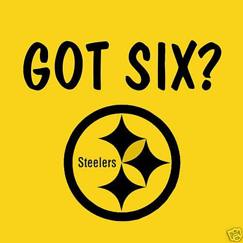 Got Six T Shirt Pittsburgh Steelers NFL Funny Shirt   eBay