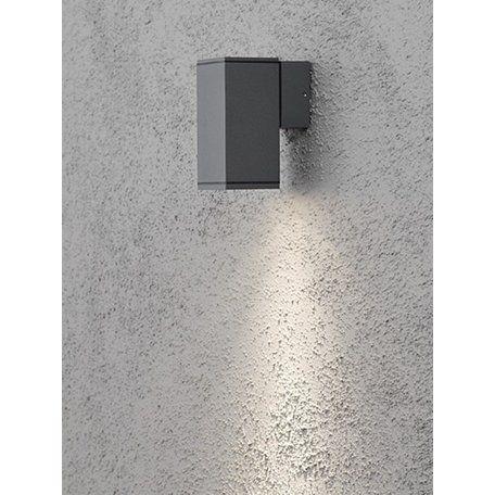 Konstsmide Monza Grå Ner Ute Vägglampa