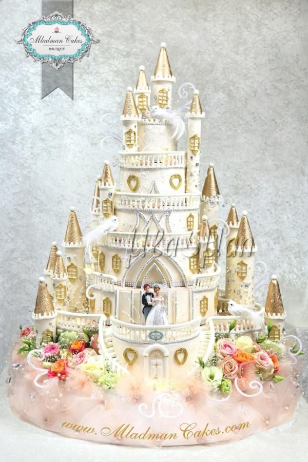 Castle Wedding Cake by MLADMAN - http://cakesdecor.com/cakes/290877-castle-wedding-cake
