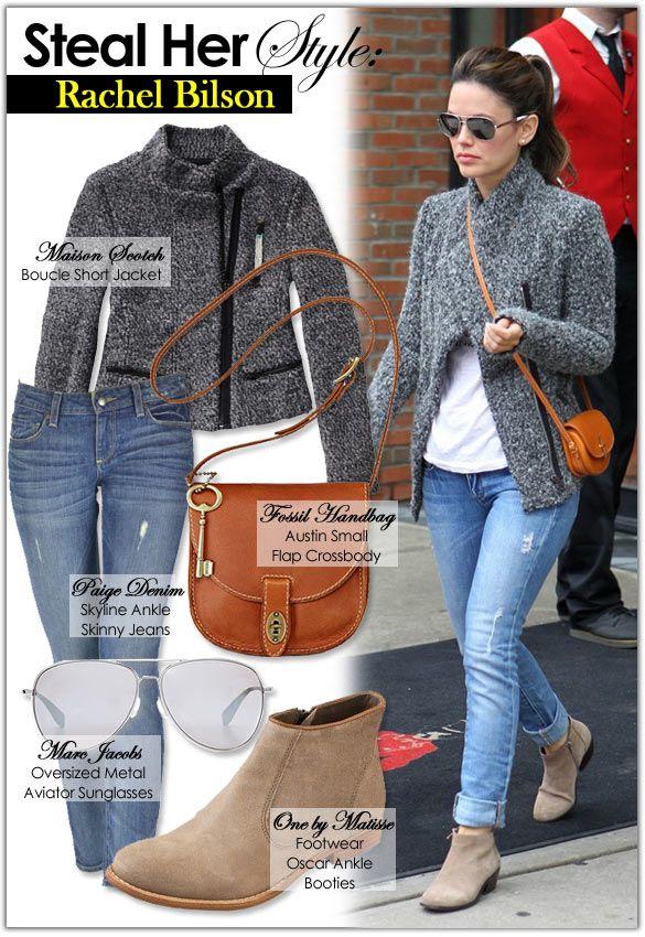 Rachel-bilson-Style-Fashion-Look - love this look for fall! #vevelicious #rachelbilson #fashion