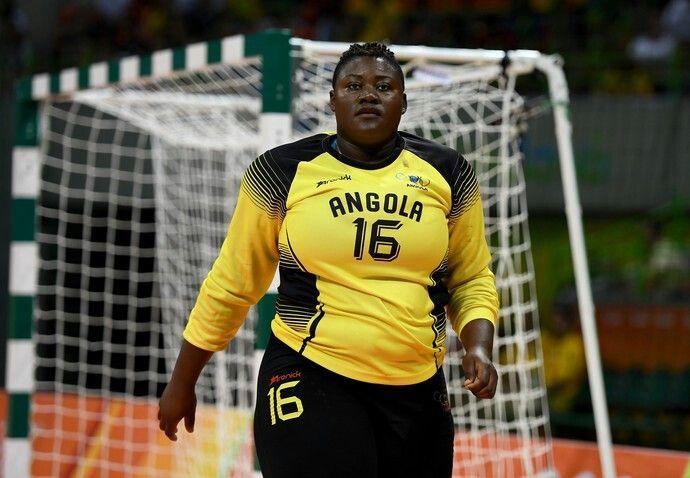 Teresa Almeida-Goalkeeper. Angola Women's Handball team