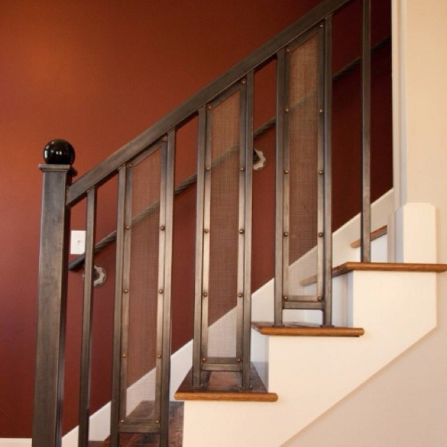 21 best images about stair railings on pinterest log homes denver and stairs - Home stair railing design ...