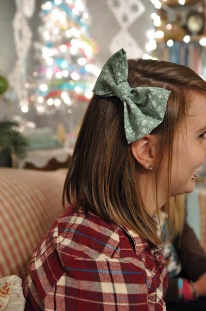 DIY vintage hair bow!