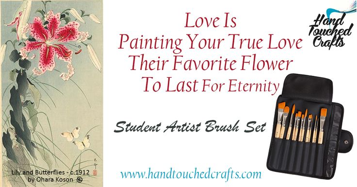 Paint your Valentine a flower with the Student Artist Brush Set - 50% until Valentine's Day - http://www.amazon.com/dp/B00I32YP4E #ArtSupplies #Paintbrushes #Quotes #Valentines