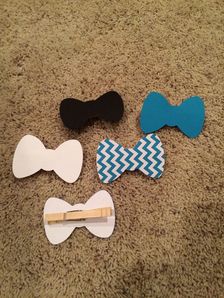Bow tie clothespin game.