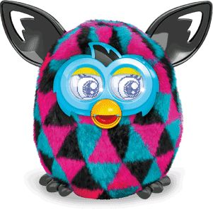 black pink and black furby boom!!!!!!!!!!!