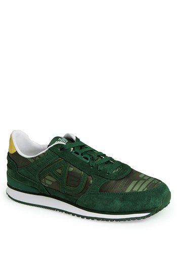 Armani Jeans 'Logo Trainer' Camo Sneaker (Men) available at #Nordstrom