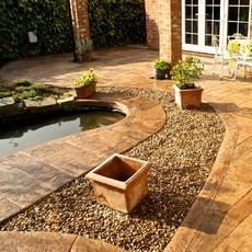 Royal Ashlar Patio / Pond Feature - Nantwich