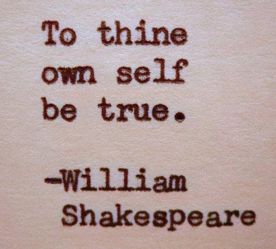 WILLIAM SHAKESPEARE Hand Typed Typewriter Quote Made with Vintage Typewriter Shakespeare Quote