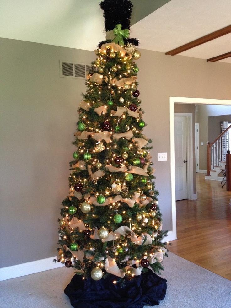 Burlap Christmas Tree   christmas   Pinterest
