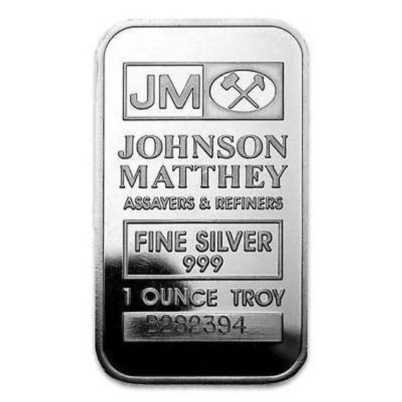 1 Oz Johnson Matthey Mallory Silver Bar 999 Fine Silver Bars Fine Silver Ebay