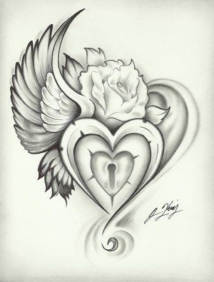 Heart Rose tattoo