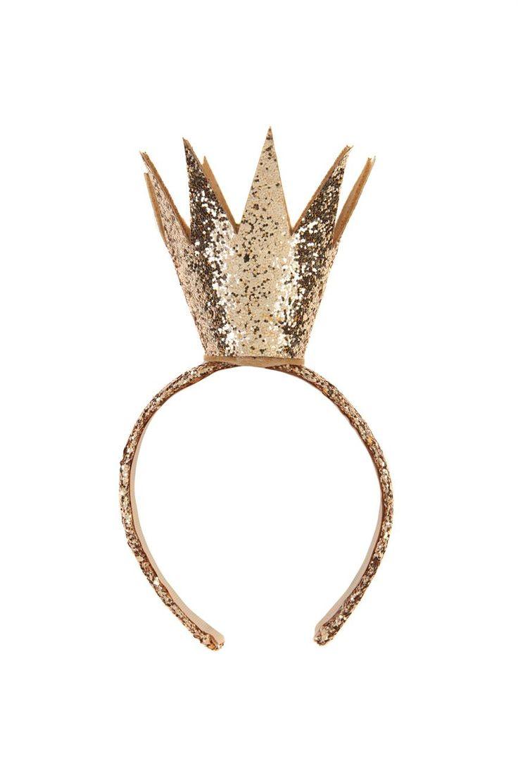 Queenie Crown | Cotton On Kids | Golden Glitter