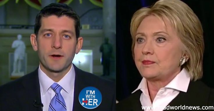 BOMBSHELL: Proof Paul Ryan Is Actively Working To Get Hillary Elected