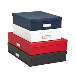 Classic Stockholm Office Storage Boxes (The Container Store) - $9.99-$12.99