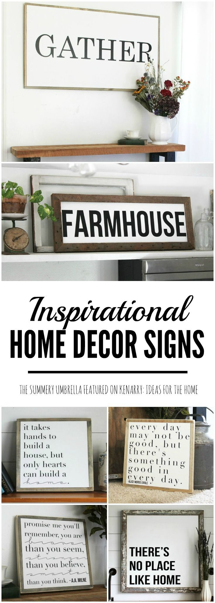 De 25 bedste id er inden for fall collections p for Home decor quotes signs