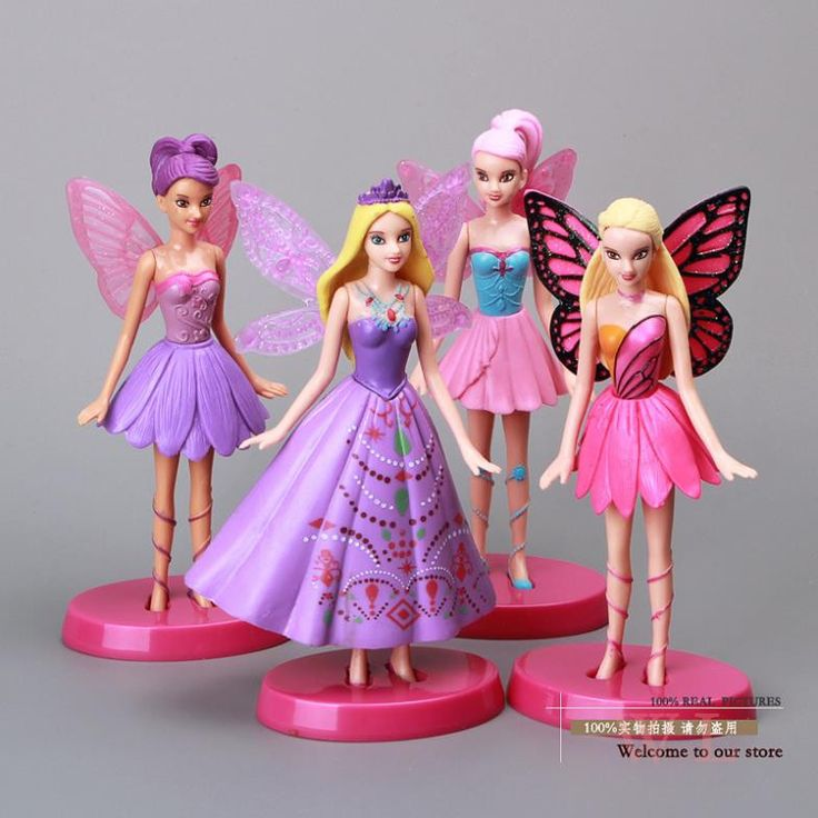 """6"""" Flying Tinkerbell Fairy Adorable Tinker Bell PVC Action Figures Toys 4pcs/set Christmas Gifts Girls Toys TBFG006"""