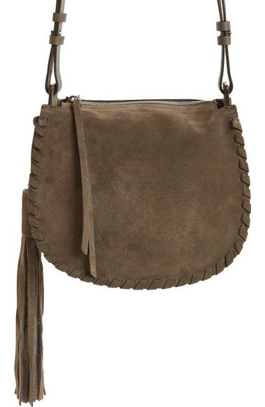 ALLSAINTS Mori Suede Crossbody Bag available at #Nordstrom