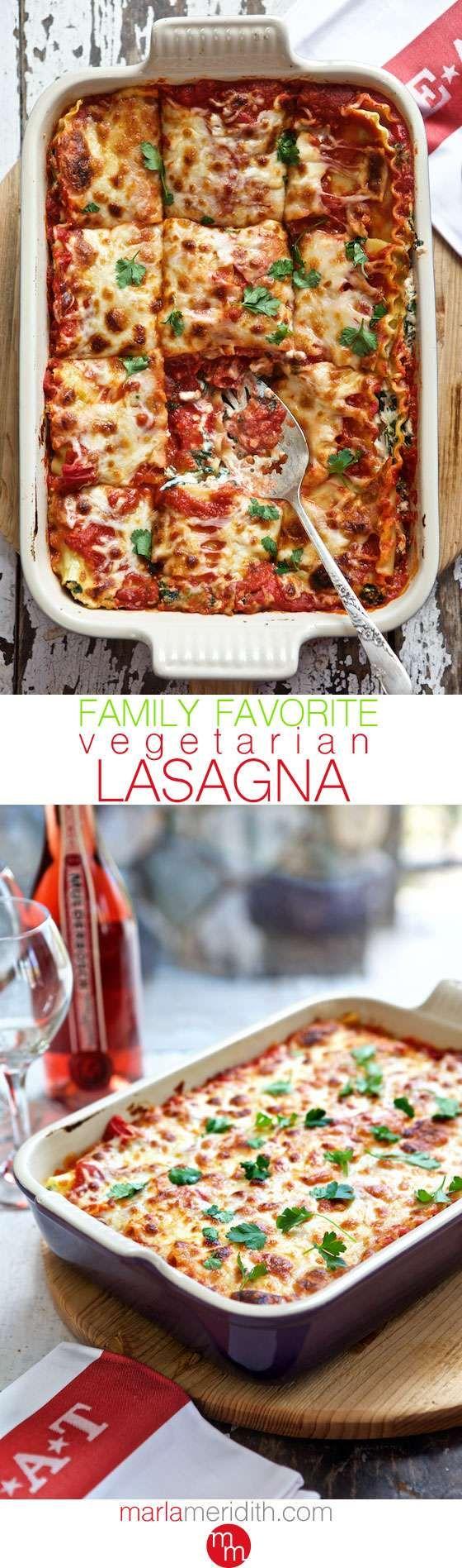 Family Favorite! Vegetarian Lasagna | Family Fresh Cooking