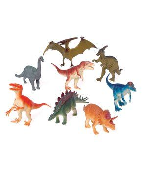 Zulily... loads of Dino toys  Large Dinosaur Toy - Set of 12 🌲🌲🌲