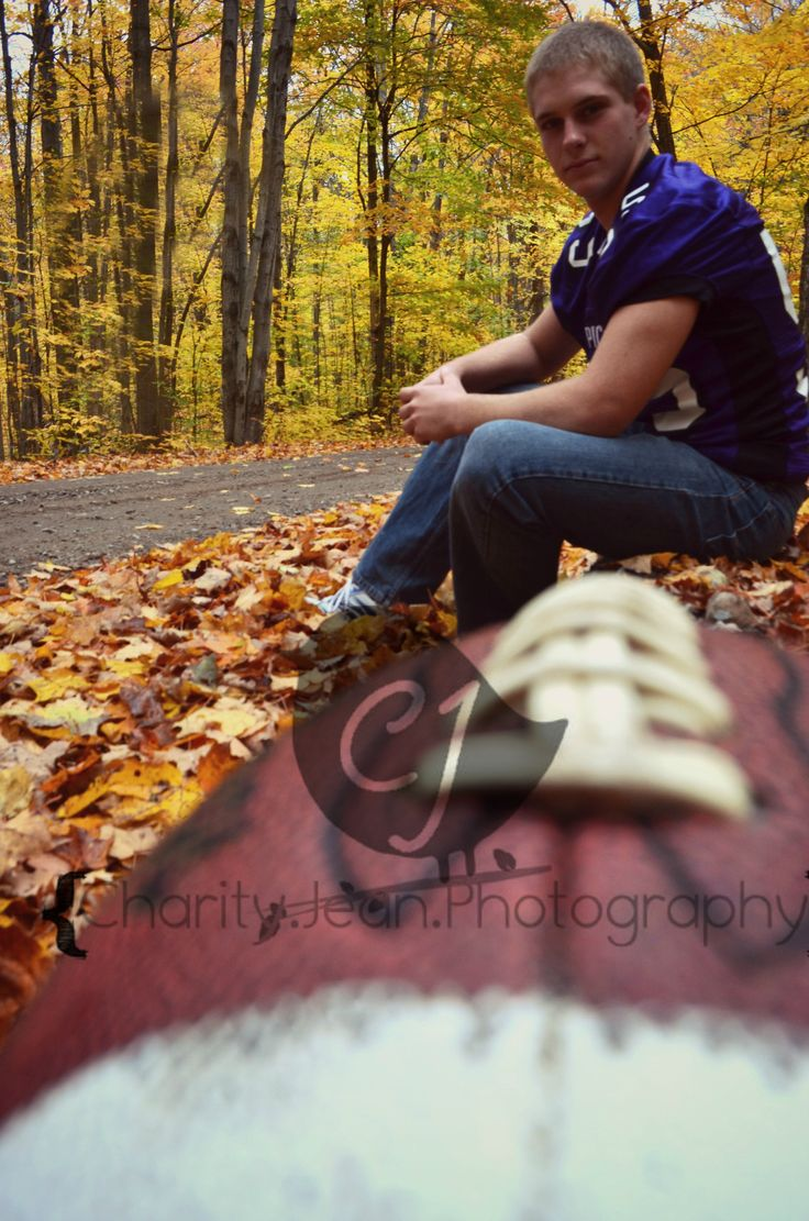football senior picture by Charity Jean Photography
