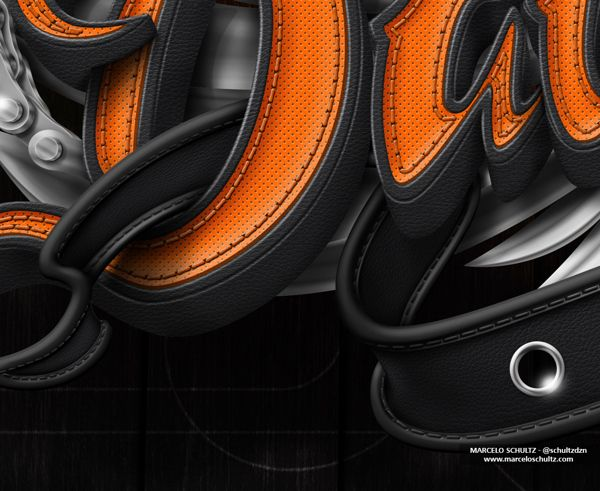 Harley Davidson Poster by Marcelo Schultz, via Behance