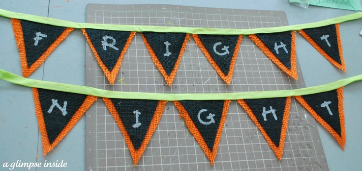 A Glimpse Inside: Halloween Bunting Banner