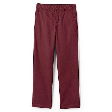 Lands' End Red boys' iron knee cadet trousers | Debenhams
