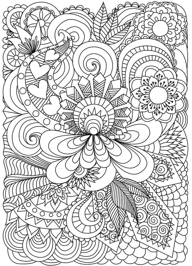 Zentangle Templates For Free Print For Coloring Self Inking Blumen Erwa Blumen Coloring Inkin Ausmalbilder Zentangle Vorlagen Vorlagen Zum Ausmalen