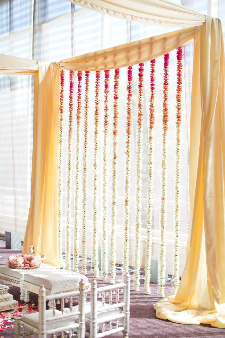 We love how simple and elegant this is. We would like the garland to drape across the top as well.