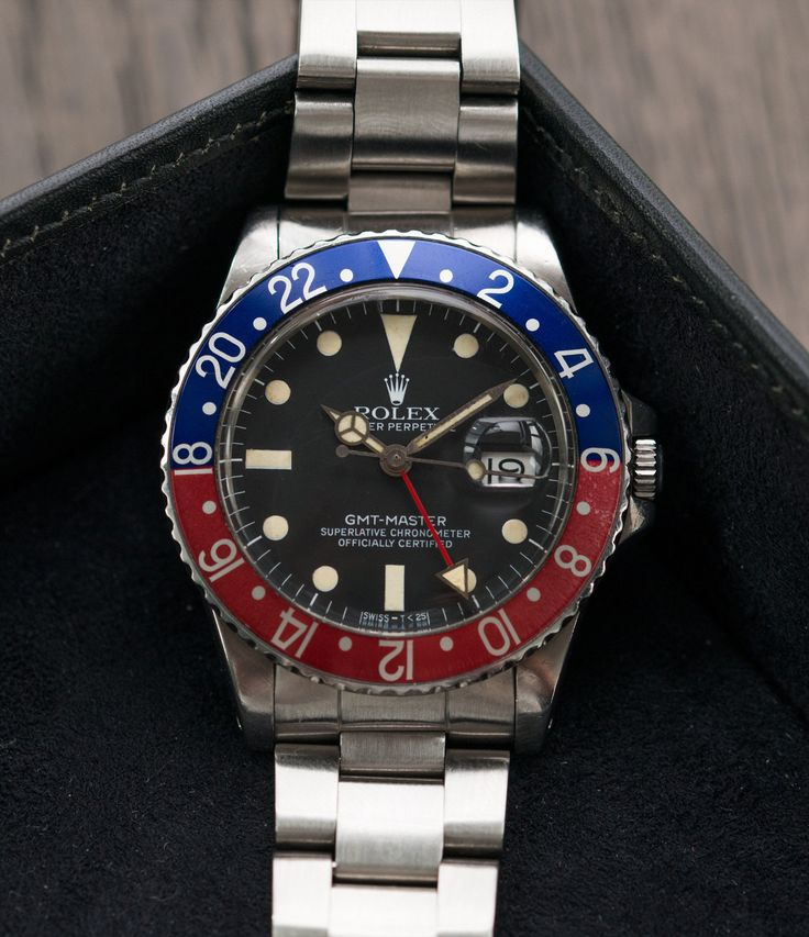 Rolex GMT 16750 vintage watch at A Collected Man London