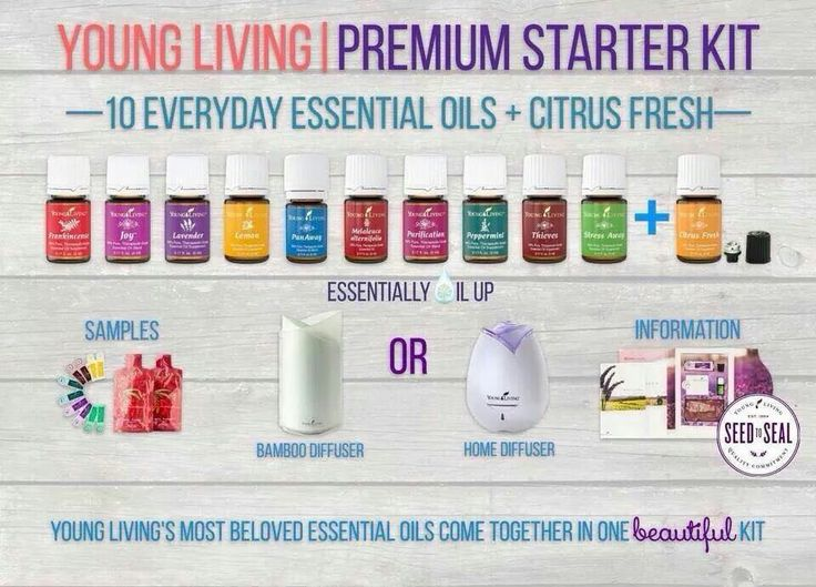 New Young Living Premium Starter Kit With Diffuser Options