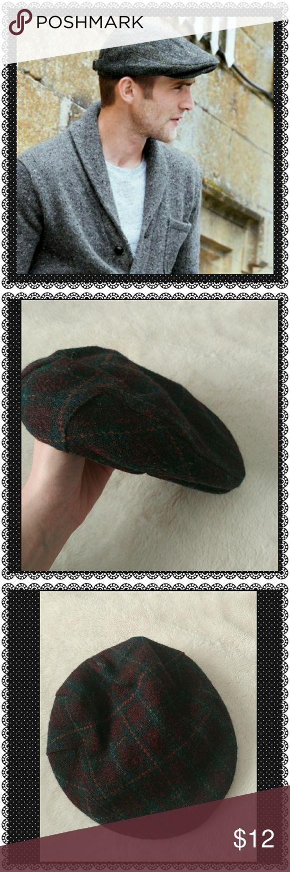 Men's Wool Hat Men's plaid wool hat Accessories Hats