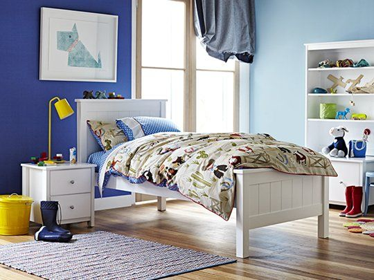 Banjo Bed Frame (with full panel bedhead): Single Bed Frame