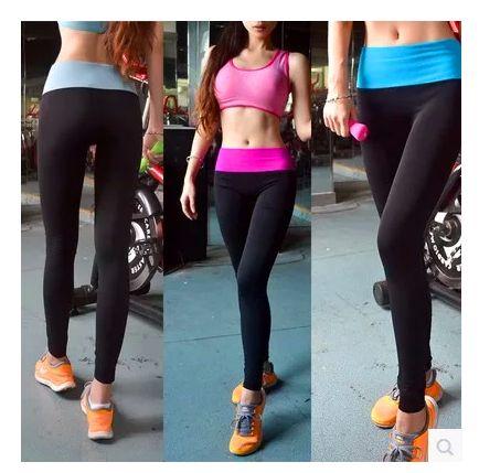 Йога брюки женские модели спортивные брюки стрейч йоги одежды тренировки, работающих на девять очков брюки Тонкий был тонкий аэробики штаны