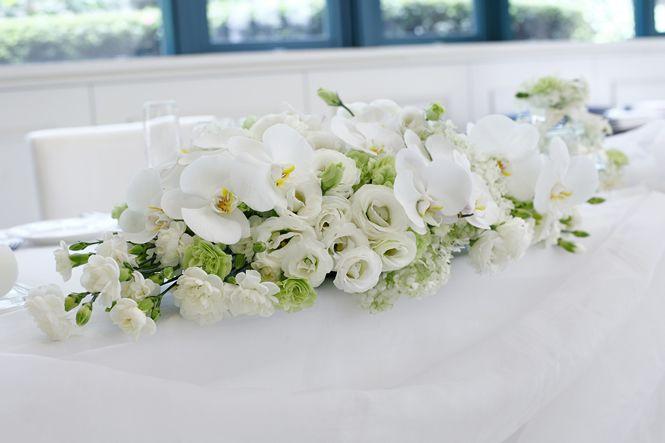 会場装花M-021(ホテル 結婚式場 レストラン)東京のウェディングフラワー専門店はなもも