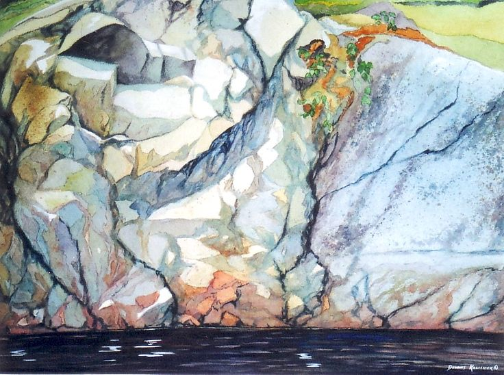 An original watercolour on paper painting by Canadian artist Dennis Kalichuk.