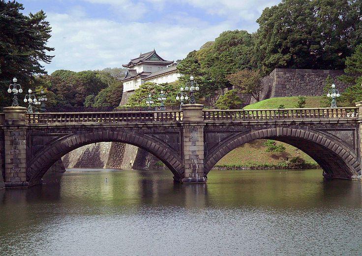 """* Tóquio * Capital do Japão. """"Ponte Seimon Ishibashi"""" do Palácio Imperial."""