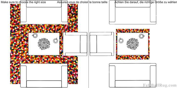 Teppene kan være både store og små!  #UllKuleTeppe #mønster #farger #design #håndlagd #kunst