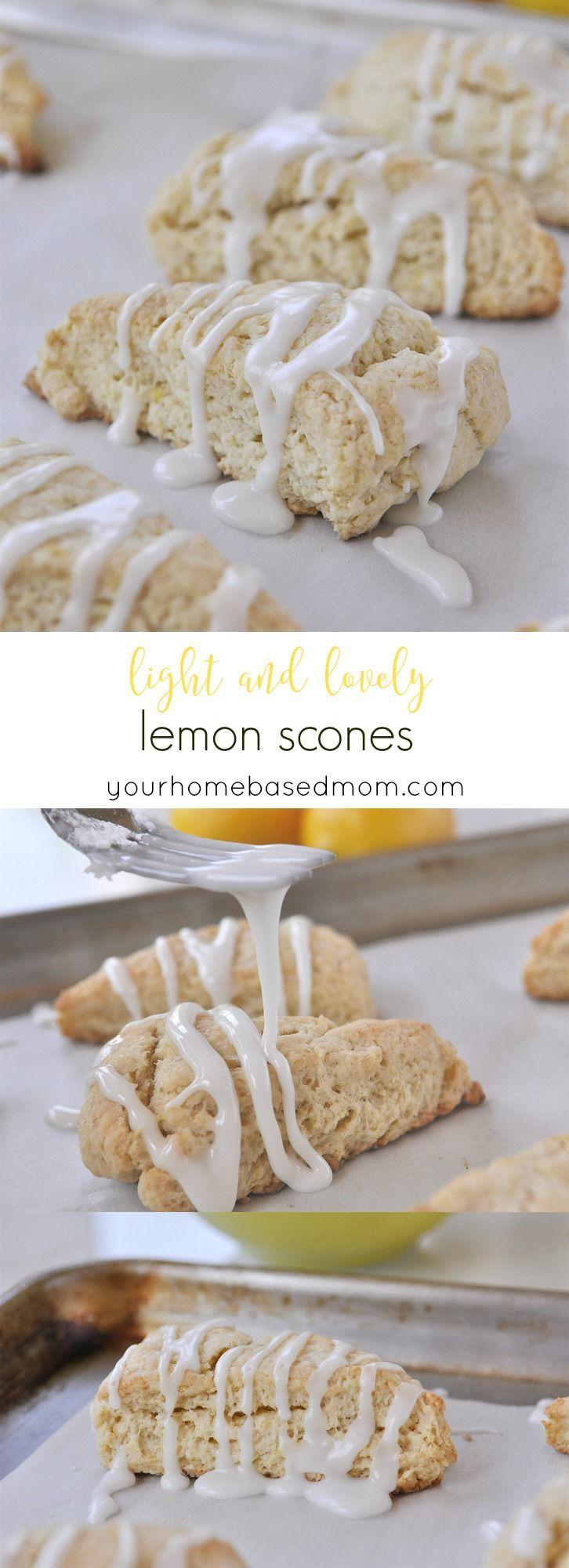 Light and Lovely Lemon Scones from yourhomebasedmom.com