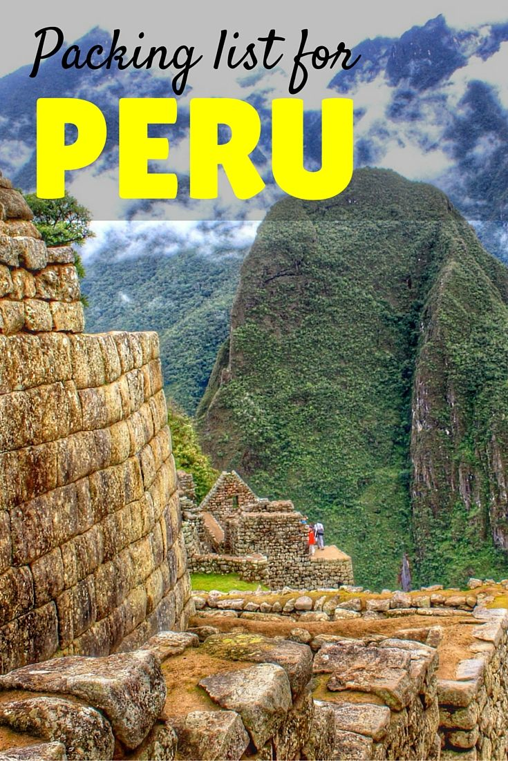 For Peru, I packed for all kinds of weather and I actually got to use all of it. If you're trekking or hiking the Inca Trail, you should bring all-weather clothes! Especially rainwear. Here's what to pack for Peru.