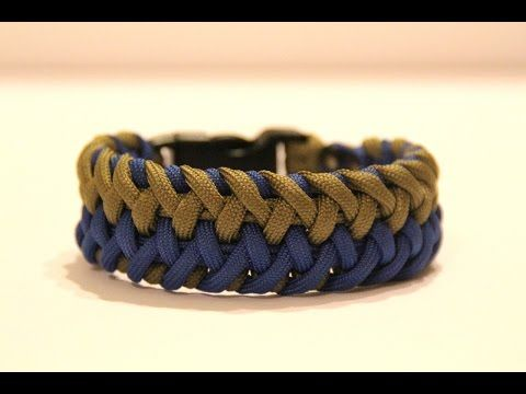 How to Make the Interwoven Cross Hitch Paracord Bracelet - YouTube