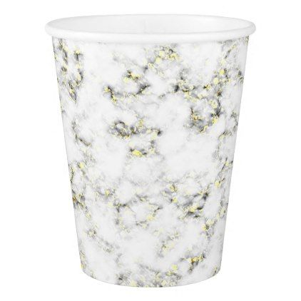Marble With Gold Paper Cup - home gifts ideas decor special unique custom individual customized individualized